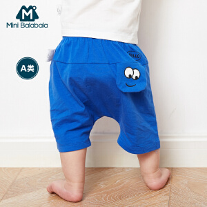 【尾品汇】迷你巴拉巴拉婴儿夏季中裤前后两穿男童休闲裤夏装裤子儿童五分裤