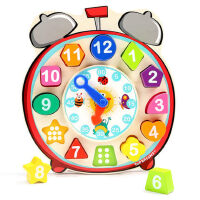 1-3岁女孩玩具一岁宝宝形状配对积木数字认知时钟1-2周岁男孩益智