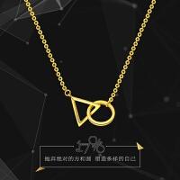 周大福 17916系列几何图形22K金项链套链吊坠E122282>>定价