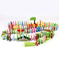 多米诺益智积木玩具儿童木制早教3-6岁100粒