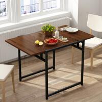 折叠桌 户外简易正方形家用小户型学生宿舍客厅吃饭用简约活动餐桌实木家用多功能