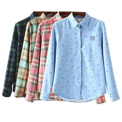 加绒衬衣秋装新女装保暖打底上衣女士长袖衬衫 发货周期:一般在付款后2-90天左右发货,具体发货时间请以与客服协商的时间为准