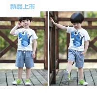 儿童夏装男童4套装5纯棉6恐龙1宝宝短袖3小男孩童装7周岁夏季衣服