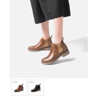 切尔西短靴女马丁靴女英伦风秋季靴子学生真皮切尔西靴女裸靴女