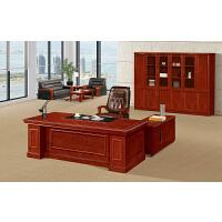欧迈时办公桌胡桃木2.4米