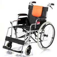【好药师旗舰店】鱼跃轮椅车铝合金轻便可折叠H062 男女适用 免充气轮胎折背型 轻便可折叠 方便快捷 家用轮椅