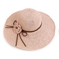 帽子女夏天遮阳帽休闲防晒大沿遮脸出游沙滩帽草帽海边帽子