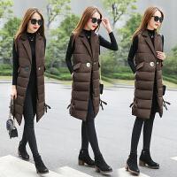 棉衣马甲女士外套中长款冬季新款韩版修身学生过膝加厚马甲外套