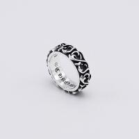?ch潮牌男士戒指单身潮男韩版个性潮人s925纯银泰银戒指女复古食指