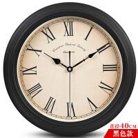 凯诺时欧式电子钟表挂钟客厅复古静音北欧万年历日历挂表美式时钟