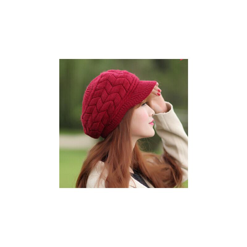 韩版冬季时尚可爱保暖帽子女士针织帽毛线帽