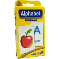 【字母】英文原版 School Zone Flash Cards Alphabet 儿童早教入学准备 字母单词识物闪卡