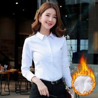 2019春新款韩版白色衬衫女长袖职业衬衣正装女士修身工作服白上衣