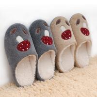冬季新款室内外防滑家居棉拖鞋女厚底秋冬季软底防水保暖家用拖鞋