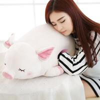猪公仔毛绒玩具女孩抱枕暖手捂玩偶可插手布娃娃可爱睡觉懒人