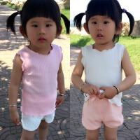 宝宝婴儿小背心夏季吊带无袖护肚薄款女童幼儿童百搭