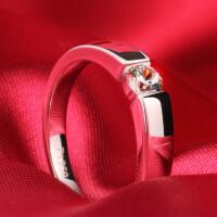 钻戒 女戒S925银钻石戒指环 男女戒指 女婚戒 材质925银镀白金 10号-26号 现货即发
