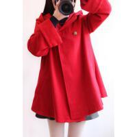 慈姑日系森女系学院风斗篷毛呢外套中长款呢子大衣韩版学生女潮秋冬季