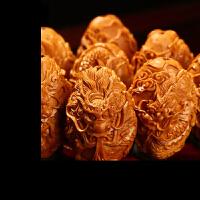 橄榄核雕九龙戏珠手串 2.0大籽橄榄胡手串手链男