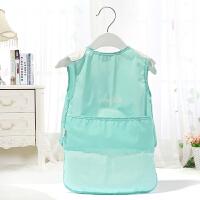 宝宝天使造型罩衣 儿童夏季无袖食饭兜婴儿防水画画反穿衣