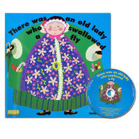 英文大开绘本There was an old lady who swallowed a fly 附cd