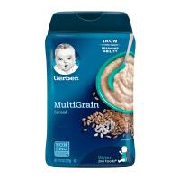 保税区发货 Gerber/嘉宝 婴幼儿辅食 2段混合谷物米粉 二段6个月以上 227g/罐 海外购