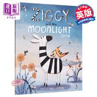 【中商原版】Kristyna Litten Ziggy and the Moonlight Show 斑马的表演秀 精品