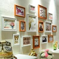 创意7 10寸相框挂墙组合连体挂摆台婚纱照欧式画框相片框照片墙 整套占墙尺寸164*85cm