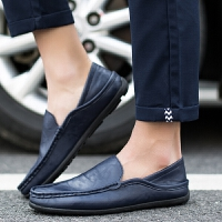CUM 潮牌潮流男鞋小皮鞋男青年白色休闲鞋男驾车鞋豆豆鞋套脚鞋