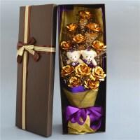 铂金玫瑰花金箔花束礼盒金色蓝色妖姬生日七夕情人节浪漫礼物