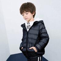 【2件3折价:79.8】巴拉巴拉旗下 巴帝巴帝90白鸭绒男女童儿童连帽轻薄羽绒服冬新款