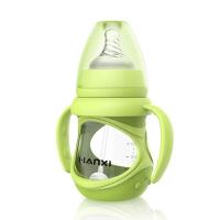 婴儿玻璃奶瓶吸管硅胶宽口径奶嘴新生儿宝宝用品