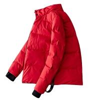 立领棉衣男韩版纯色棉袄冬季新款修身棉服青少年休闲上衣学生男装