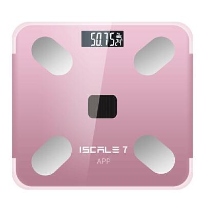 智能体脂秤充电款家用精准小型电子称宿舍体重秤人体测脂肪体质女 智能app测脂 精准称重
