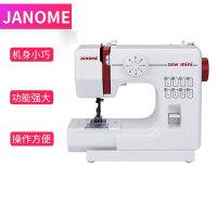 JANOME 电动台式迷你家用缝纫机微型脚踏车衣吃厚多功能电动手动缝纫机