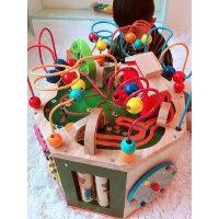 一岁半宝宝益智男孩智力0-1岁多婴儿玩具早教启蒙绕珠百宝箱女孩