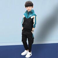 木木屋男童春装套装2021新款儿童洋气网红时髦春夏款韩版男孩运动两件套