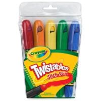 美国 [Crayola绘儿乐] 5色可拧转润滑大蜡笔 套餐组 52-9505