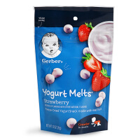 美国进口GERBER嘉宝溶豆 草莓酸奶溶豆 婴儿奶豆 婴儿宝宝零食品