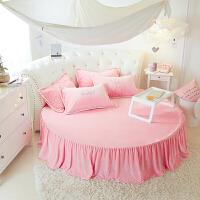 法莱绒圆床笠法兰绒圆形床裙床单床罩园形席梦思床垫套珊瑚绒保暖 2.