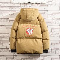 印花棉衣男冬季新款棉袄韩版连帽上衣青年宽松面包服潮流外套