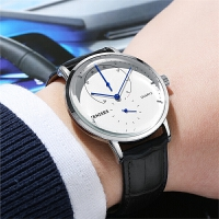 新款手表男表学生薄石英男士手表皮带韩版简约潮流非机械