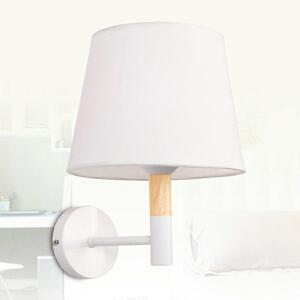 【每满100-50】实木壁灯过道阳台北欧原木风格卧室床头简约卧室床头灯 玻璃实木壁灯YX-LMD-3010