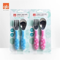 婴儿餐具宝宝叉勺子组合 儿童430不锈钢叉勺套装便携餐具