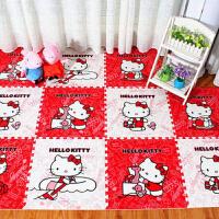 卡通儿童婴儿泡沫爬行垫大号加厚凯蒂猫地垫卧室家用榻榻米游戏垫