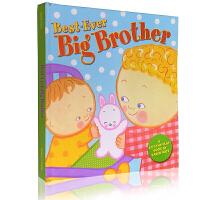 英文原版绘本 凯伦卡茨 Best-Ever Big Brother 棒哥哥 Karen Katz 翻翻书二胎儿童低幼启