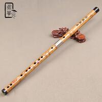 笛子乐器苦竹烫花横笛 演奏考级初学笛子入门竹笛