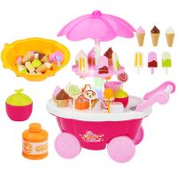 儿童过家家冰淇淋车玩具女孩仿真小手推车糖果车冰激凌雪糕车套装