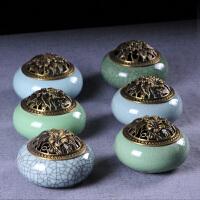 小陶瓷家用供佛仿古熏香香薰炉 茶道室内檀香盘香炉香插