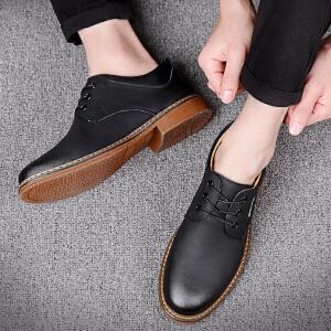 宜驰 EGCHI 商务休闲皮鞋男士皮鞋耐磨正装男鞋 25034